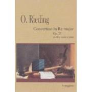 Concert in Re major Op.25 - Pentru vioara si pian - O. Rieding