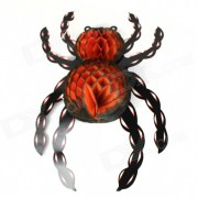 Halloween Paper Spider Ceiling / Wall Hanging Decoration - Orange + Black