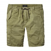 Scotch & Soda Cargo-Shorts aus Popelin olivgrün