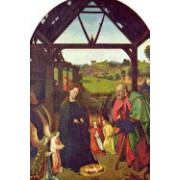 Nativity (Petrus Christus) for the Love of Art (Dutch School): Blank 150 Page Lined Journal for Your Thoughts, Ideas, and Inspiration