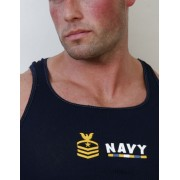 Go Softwear Military Crest Navy Tank Top T Shirt Navy 3215N