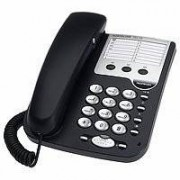Audioline TEL 19, base, Digital, Negro, Plata, CE