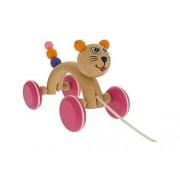 """ABA 16 x 9 x 12 cm, motivo """"gatto"""" designer Michelle Pull-Along Toy (Multi-colore)"""