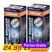 Osram Night Breaker Unlimited H3 12v 55w ( 2 Lâmpadas )