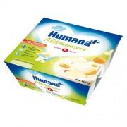 Humana Iaurt cu gust de mere si caise 4x100 g 6m+