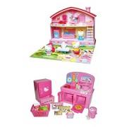 Dos conjuntos de populares Hello Kitty - Kitty casa y cocina - venden juntos