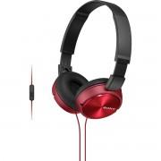 Sony Mdr-Zx310Ap Fone de Ouvido com Microfone Vermelho