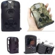 Sistema Videosorveglianza Telecamera a Colori con Visione Notturna Led Infrarossi Invisibili + DVR Registratore Video 16 GB / Batteria Lunga Durata Autonomia fino a 6 Mesi / Ottima per la Sorveglianza di Cantieri Mezzi Meccanici Baite Case di Montagna