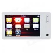 """3.0"""" TFT LCD Screen HD MP5 Player w/ Camera + TF Card Slot + FM - White (8GB)"""
