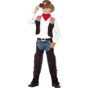 Childs Deluxe Cowboy Costume - MEDIUM