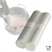 Pack 2 rollos gofrados para cocinar a baja temperatura y envasar 20x600 cm