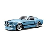 Maisto 1:24 Scale 1967 Ford Mustang GT with Pistol Grip Controller Radio Controlled Model Car (Blue)