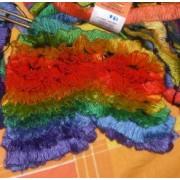 sciarpa ai ferri acrilico - arcobaleno