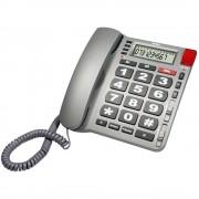 Telefon fix Profoon TX-800 cu display, butoane mari, semnalizare luminoasa si alarma SOS pentru seniori