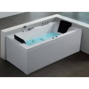 Whirlpool Badewanne Nizza Eckwanne links + rechts mit 6 Massage Düsen + LED S...