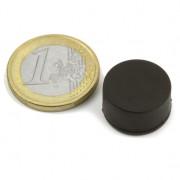 Magnet neodim disc, diametru 16,8 mm, putere 3,7 kg, ac. cauciuc
