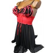 Afrodita košilka s tangy L černá