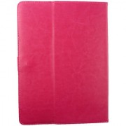 Emartbuy Toshiba Encore 2 10.1 Inch Tablet Hot Pink Plain Premium PU Leather Multi Angle Executive Folio Wallet Case Cover With Card Slots + Stylus