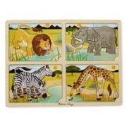 Set 4 Puzzle Lemn Safari
