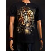 Koszulka świecąca w ciemności, marki Rock Eagle - GANGSTA