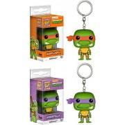Michelangelo & Donatello: Pocket POP! Keychain x TMNT Vinyl Figure