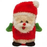 Kyjen Outward Hound Kyjen 2791 Invincibles Plush Santa Stuffingless Dog Toys Squeaker Toy 1-Squeaker, Small, Red by Kyjen