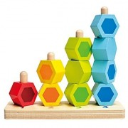 Hape - Early Explorer - Counting Stacker Wooden Block Set