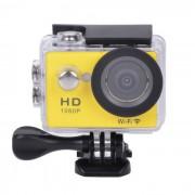 """EOSCN HD1080P imperméable à l'eau 2/3"""" CMOS 12MP caméra de sport w / LTPS LCD 2"""" / 900mAh batterie - jaune"""