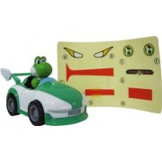 """Wii Mario Kart Racing Collection 3 Pull Back Cars w/ Stickers-2"""" Yoshi-994173"""