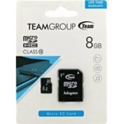 Card de Memorie Team Group microSDHC 8GB Clasa 10 + Adaptor SD