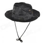 Sombrero de algodon para camping - negro