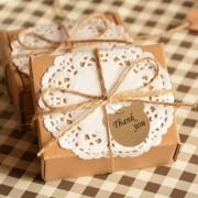 Phenovo Kraft Paper Blank Card Hand Draw Gift Tags Bear Label 100pcs Brown