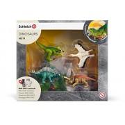 Schleich - Dinosauri Mini, Set Dinosauri con Puzzle Esploratori 42213