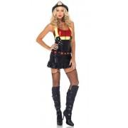 2Pc.Hot Spot Honey,Garter Dress W/Lame Bodice And Led Light Up Belt