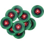 Magideal 10Pcs Heart Ceramic Poker Chips For Mahjong & Texas Poker Green