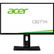 Monitor Acer CB271Hbmidr (FHD) (LED), 27 (69 cm), Format: 16:9, Resolution: 1920 x 1080@60Hz, Viewing Angle 170°(H),160°(V), Response time: 1 ms (G to G), Contrast: 100M:1, Brightness: 300 cd/m2, ErgoStand (Height Adjustable Pivot Display Angle), por