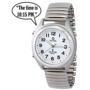 ATOMIC! Talking Wrist Watch w/Alarm Speaks the Time Day Date and Year