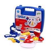 Zerowin Pretend Play Doctor Set Medical Center Doctors Kit with a Sturdy Gift Case, Blue