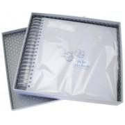 White Cotton Cards - Libro de recuerdos y postales de bebé (diseño de texto en inglés y ropita)