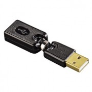 Adapter USB, ugaoni, crni HAMA