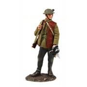 W Britain 1916-18 British Infantry Standing with Souvenir German Helmet #23111 by W. Britain