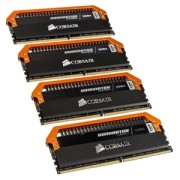 Memorie Corsair Dominator Platinum 16GB (4x4GB) DDR4 3400MHz CL16 1.35V Quad Channel Kit Limited Edition Orange, CMD16GX4M4B3400C16