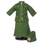 Salvation Army Historic Uniform Comes Complete with Skirt Jacket and Hat with Salvation Army Badge. Green Khaki Outfit Fits 18 inch American Girl Dolls Clothes & Accessories.