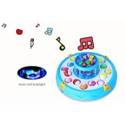 A-forest Electric Musical Colorful Light Fishing Toy Set Deluxe Fish Game Magnetic Fishing Toy 4 Rods and Fish...