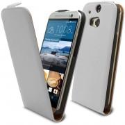 Clubcase Coque Flip Vertical HTC One M8 Cuirette Eco Blanc
