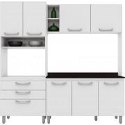 Cozinha Compacta Adapt 9 Henn Branca com Amêndoa