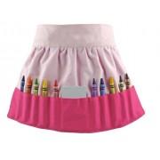 Princesa S-banas 162H Doodlebugz Solid Pink Crayon delantal