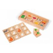 Pexeso din lemn Barnyard Memory Game 08166