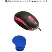 Usb Optical wired Mouse (Free Mouse Pad)