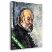 Paul Cézanne: Cézanne önarcképe, 4. (20x25 cm, Vászonkép )
